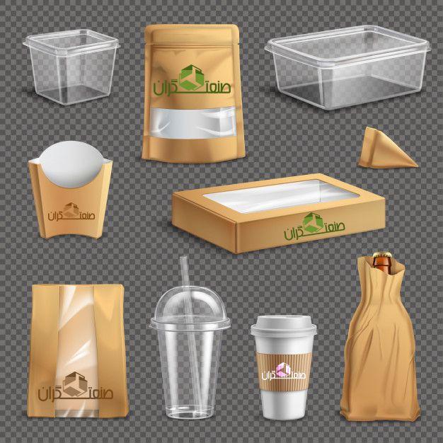 نمونه بسته بندی مورد استفاده در فست فود ها