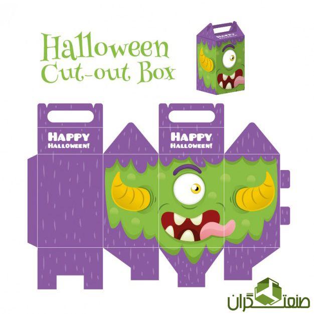 نمونه طرح خلاقانه بسته بندی هالووین